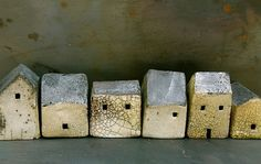 little houses by ceramic artist, Rowena Brown