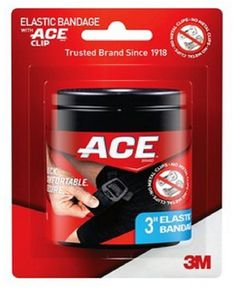 ACE 3 Inch Elastic Bandage with ACE Clip ($6.19 from pharmapacks.com, or $8.99 from Amazon)