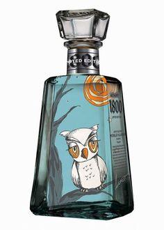 1800 tequila -owl bottle