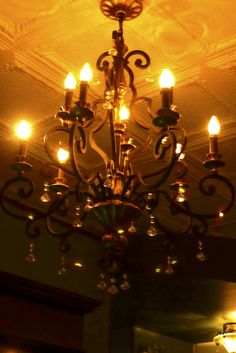 The Little Gem Cafe Goth Bedroom, Bedroom Decor, Oak Park, Chicago, Chandelier, Gems, Ceiling Lights, Traditional, Modern