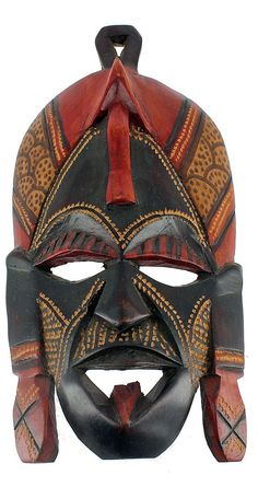 ghanaian wood mask