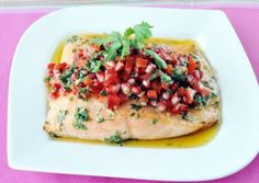 Recipe: Salmon with Salsa and Extra Virgin Olive Olive