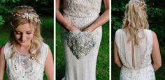 Beautiful Laura in her Jenny Packham Wedding Dress