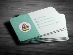 Cake Shop Business Card Template by Smashing.Studio on Bakery Business Cards, Cleaning Business Cards, Cake Business, Modern Business Cards, Business Card Design, Candy Logo, Visiting Card Design, Bakery Logo Design, Bussiness Card