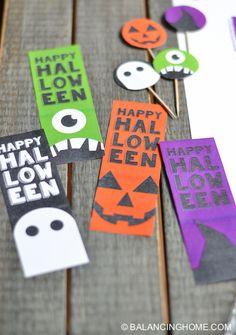 Marcadores de Halloween para imprimir - Printable Halloween Bookmark