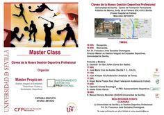"#MasterGestionDeportivaUs #MasterClass, 26/10/16, 16:30: ""CLAVES NUEVA GESTIÓN DEPORTIVA PROFESIONAL"". Te lo vas a perder?  @unisevilla @CFP_unisevilla @ftfsevilla #MasterClass: colaboran: @SevillaFC  @SADUSoficial  @FedAndaluzaFutb  @fattenis  #AsesoramientoDeportivoProfesional #4Pro"