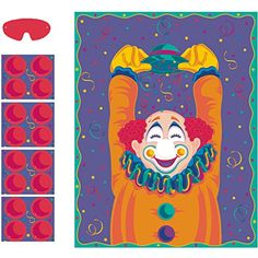 Party Game-Pin The Nose On The Clown, 2015 Amazon Top Rated Party Games & Crafts #Toy