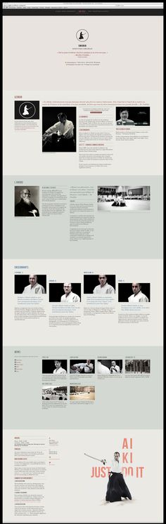 Suki Dojo Website One Page Responsive by Arnaud Beelen, via Behance