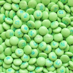 Light Green Easter Bunny Mix M & M's from Temptation Candy. Green M&ms, Jelly Belly Beans, Online Candy Store, Green Candy, Light Spring, World Of Color, Candy Colors, Shades Of Green, Aesthetic Pictures