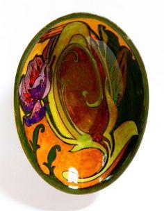 1909 ROZENBURG TULIP DISH  Art Nouveau Jugendstil Vase High Glaze Gouda