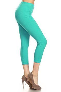 d2f8abf464c Depot Women s Premium Cotton Soft Capri Yoga Pants NCL27