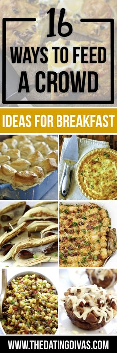 Ways to Feed a Crowd Breakfast - filled with the best recipes and ideas to make your life easier with guests in the morning!