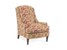 Shop for John Richard High Back Arm Chair-No Skirt, SOC-1001-10-H762, and other Living Room Chairs at High Country Furniture & Design in Waynesville, NC - North Carolina. Shown With No Skirt In H762 Fabric and Contrast Welt In F571 Fabric Inside Seat 24''W X 21''D, Seat 21'' H, Arm 23'' H Nail Head Trim Option - $50 upcharge - 1 Brass 2 Old Gold 3 Nickel Plated 4 Pewter.