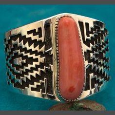 Native American Coral Bracelet by Tommy Jackson