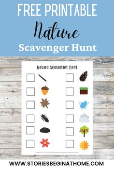 Take this FREE nature scavenger hunt with you on your next nature walk! Free nature scavenger hunt. Free nature printable for kids. Printable nature scavenger hunt for kids. Printable nature scavenger hunt. Printable nature journal. Nature printables free. Nature printables for kids. Montessori Nature Printables. Free Montessori Printables. Free Nature Printables. Free nature printables. Free nature walk printable. Free nature journal printable. #freenaturescavengerhuntforkids… Fall Preschool Activities, Fun Outdoor Activities, Nature Activities, Nature Scavenger Hunts, Scavenger Hunt For Kids, Kindergarten Homeschool Curriculum, Walk Free, Stem Science, Early Intervention