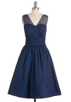 Professionally Posh Dress in Navy. #modcloth