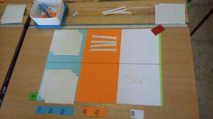 Cijferen aanbrengen met concreet materiaal