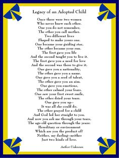 Two kinds of love - legacy of an adopted child #adoption
