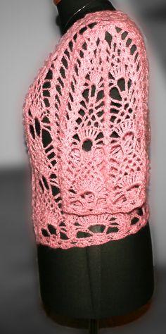 pink crochet bolero Knitting, Crochet, Hats, Fashion, Moda, Tricot, Hat, Fashion Styles, Breien