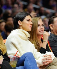 Cara Delevingne and Kendall Jenner - Delevingne and Jenner have a lot in common. They both have famous siblings. They're both staples on runways around the world. And they're both at the top of paparazzi lists. Doesn't it make sense these two would hit it off?