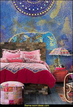 boho exotic Moroccan Bedding, Bohemian Ethnic Style Bedding, Boho Duvet Cover Set, Boho Bedding