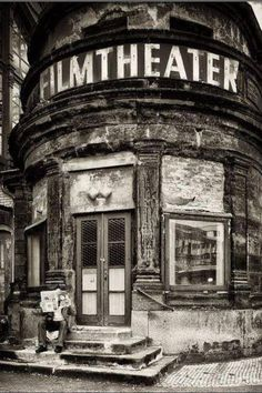Old movie theater #blackandwhite #photography