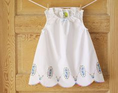 vintage pillow case dress | Vintage Pillowcase Dress-24 months-Baby Girls-Pastel floral Hand ...