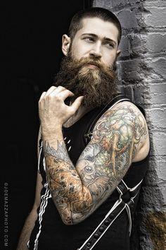 dude with awesome beard & tats.