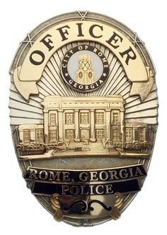 US State of Georgia, City of Rome Police Department Badge