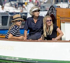 Looking good: Maxima with her mother-in-law Princess Beatrix and her sister-in-law Princess Mabel