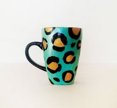 Meow – Summer edition – Coffee mug – black handle