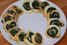 Spinat-Blätterteig-Schnecken