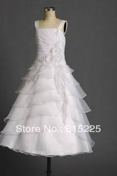Custom Made Free Shipping Flower Girl Dress Sweety Pageant Dress For Kids Spaghetti Straps Satin Lining Organza Handmade Flower on AliExpress.com. $69.00