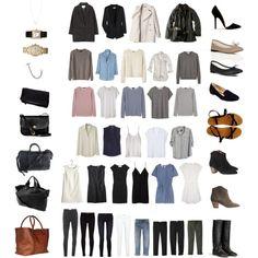 50 Item Capsule Wardrobe - Polyvore