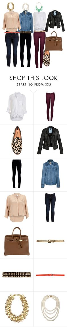 """""""Basic outfit"""" by carotarch ❤ liked on Polyvore featuring Miss Selfridge, Citizens of Humanity, True Religion, Vero Moda, Hermès, Ted Baker, Ronald Pineau, COSTUME NATIONAL, AK Anne Klein and Kenneth Jay Lane"""