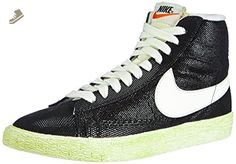 Nike Womens Blazer Mid Suede VNTG Black/Wolf Grey/Sail 518171-009 12 - Nike sneakers for women (*Amazon Partner-Link)