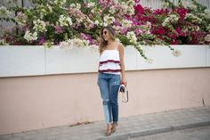 Chic Flavours wearing ruffle top for spring