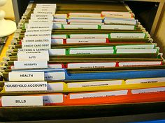 Colored Files Filing Cabinet Organization School Paper Organizing Paperwork Finance