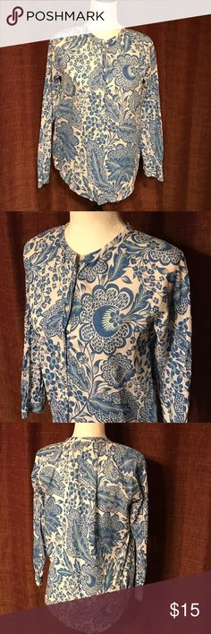 """J. Crew shirt 100% cotton tunic long sleeves shirt by J. Crew in size 0. Measures 20"""" chest and 25"""" long. Good condition. J. Crew Tops Tunics"""