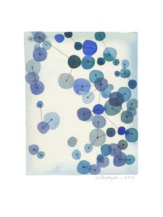 Constellation - Original watercolor painting - blue teal circles connected by geometric lines - abstract painting. via Etsy. Constellation Art, Constellations, Cheap Paintings, Original Paintings, Scandinavian Paintings, Canvas Poster, Geometric Lines, Modern Wall Art, Watercolor Paintings