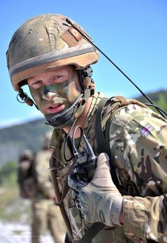 An Army reservist soldier for the 4th Batallion The Yorkshire Regiment (4YORKS) is pictured on Exercise Roman Star in Italy.