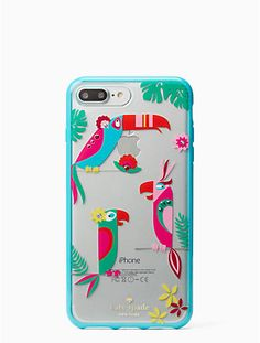 jeweled parrots iphone 7 plus case by kate spade new york