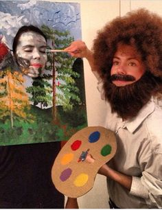 artist + his masterpiece couple's costume - photo from imgur on Redditor