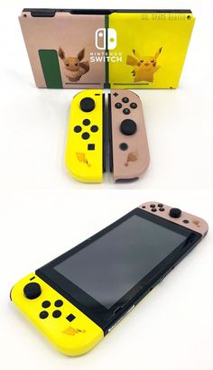 Pokemon Lets Go Switch Shells - Nintendo Switch Console - Ideas of Nintendo Switch Console - Pokemon Lets Go Switch Shells! Nintendo Switch System, Nintendo Switch Games, Console Style, Nintendo Switch Accessories, Gaming Accessories, Pokemon Merchandise, Vídeos Youtube, Gamer Room, Gaming Headset