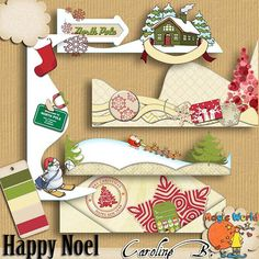 """#Etsy https://www.etsy.com/shop/CarolineBDesign   Happy Noel Borders (Kit numérique pour scrapbook à télécharger) by CarolineBDesign      1,99 USD  Happy Noel Borders (Kit numérique pour scrapbook à télécharger)  Un adorable kit pour les jours heureux de Noël ! 5 super bordures coordonnées avec mon kit  """"Happy Noel"""" kits.  -----  Voyez la SERIE COMPLETE :   Happy Noël Bundle https://www.etsy.com/listing/215058236/happy-noel-bundle-downloadable-digital?ref=shop_home_feat_2  Happy N.."""