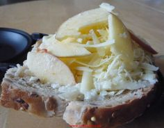 Apple, cheese and horseradish melted on toast - a touch of mustard wouldn't go astray here either.