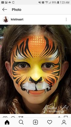Tiger Makeup, Face Paintings, Carnival, Animals, Animaux, Animal, Animales, Animais