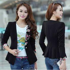 Blazer feminino outerwear colarinho plissado 5 outono fino blazer projeto curta cauda de andorinha das mulheres formais US $18.50