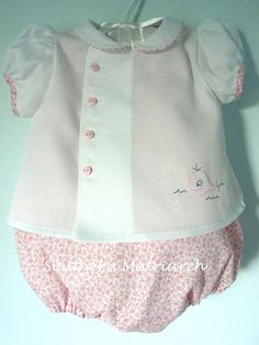 Diaper shirt and romper by Old Fashioned Baby sewn by Marbroy on Flickr.