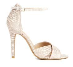 White Snakeskin Heel